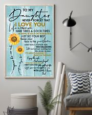 DAD TO DAUGHTER GIFT - SUNSHINE SUNFLOWER BRAVE 11x17 Poster lifestyle-poster-1