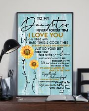 DAD TO DAUGHTER GIFT - SUNSHINE SUNFLOWER BRAVE 11x17 Poster lifestyle-poster-2