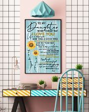 DAD TO DAUGHTER GIFT - SUNSHINE SUNFLOWER BRAVE 11x17 Poster lifestyle-poster-6