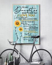 DAD TO DAUGHTER GIFT - SUNSHINE SUNFLOWER BRAVE 11x17 Poster lifestyle-poster-7