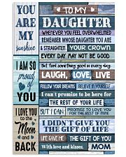 MOM TO DAUGHTER GIFT- WOOD- THE GIFT OF LIFE -YOU  11x17 Poster front