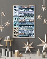 MOM TO DAUGHTER GIFT- WOOD- THE GIFT OF LIFE -YOU  11x17 Poster lifestyle-holiday-poster-1