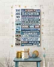 MOM TO DAUGHTER GIFT- WOOD- THE GIFT OF LIFE -YOU  11x17 Poster lifestyle-holiday-poster-3