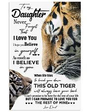 DAD TO DAUGHTER GIFT - TIGER- HAVE YOUR BACK 11x17 Poster front