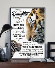 DAD TO DAUGHTER GIFT - TIGER- HAVE YOUR BACK 11x17 Poster lifestyle-poster-2
