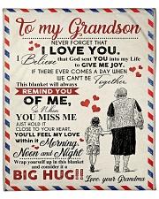 "GRANDMA TO GRANDSON GIFT GIVE JOY FEEL LOVE GOD Fleece Blanket - 50"" x 60"" front"