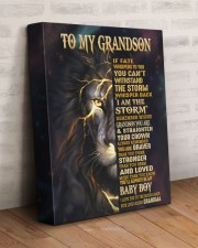 GRANDMA TO GRANDSON GIFT- FATE STORM BRAVER -LION 11x14 Gallery Wrapped Canvas Prints aos-canvas-pgw-11x14-lifestyle-front-07