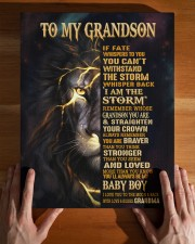 GRANDMA TO GRANDSON GIFT- FATE STORM BRAVER -LION 11x14 Gallery Wrapped Canvas Prints aos-canvas-pgw-11x14-lifestyle-front-32