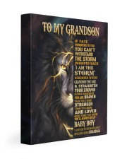 GRANDMA TO GRANDSON GIFT- FATE STORM BRAVER -LION 11x14 Gallery Wrapped Canvas Prints front