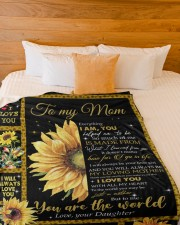 """DAUGHTER TO MOM GIFT YOU ARE APPRECIATED Large Fleece Blanket - 60"""" x 80"""" aos-coral-fleece-blanket-60x80-lifestyle-front-02a"""