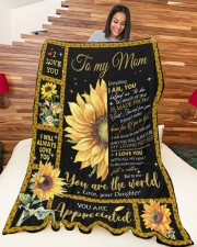 """DAUGHTER TO MOM GIFT YOU ARE APPRECIATED Large Fleece Blanket - 60"""" x 80"""" aos-coral-fleece-blanket-60x80-lifestyle-front-04a"""