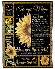 """DAUGHTER TO MOM GIFT YOU ARE APPRECIATED Large Fleece Blanket - 60"""" x 80"""" front"""