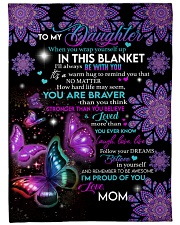 """MOM TO DAUGHTER GIFT- BUTTERFLY- PROUD OF YOU Large Fleece Blanket - 60"""" x 80"""" front"""