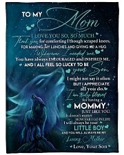"""SON TO MOM GIFT-I ALL FEEL SO LUCKY TO BE YOUR SON Large Fleece Blanket - 60"""" x 80"""" front"""