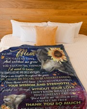 """DAUGHTER TO MOM GIFT YOU ARE THE BEST Large Fleece Blanket - 60"""" x 80"""" aos-coral-fleece-blanket-60x80-lifestyle-front-02a"""