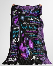 """MOM TO DAUGHTER GIFT- PROUD OF YOU BUTTERFLY Large Fleece Blanket - 60"""" x 80"""" aos-coral-fleece-blanket-60x80-lifestyle-front-10"""