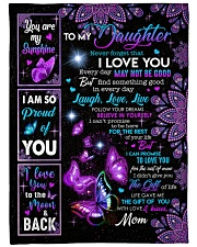 """MOM TO DAUGHTER GIFT- PROUD OF YOU BUTTERFLY Large Fleece Blanket - 60"""" x 80"""" front"""