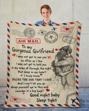"""GIRLFRIEND GIFT- DEEP IN MY HEART YOU'RE THE ONE Fleece Blanket - 50"""" x 60"""" aos-coral-fleece-blanket-50x60-lifestyle-front-01"""