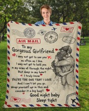 """GIRLFRIEND GIFT- DEEP IN MY HEART YOU'RE THE ONE Fleece Blanket - 50"""" x 60"""" aos-coral-fleece-blanket-50x60-lifestyle-front-01a"""