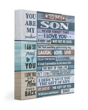 DAD TO SON GIFT- LAUGH LOVE LIVE -PROUD -WOOD 11x14 Gallery Wrapped Canvas Prints front