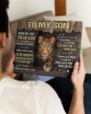 MOM TO SON GIFT- PANTHER STEP OUT THE SHADOWS 14x11 Gallery Wrapped Canvas Prints aos-canvas-pgw-14x11-lifestyle-front-29