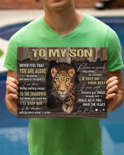 MOM TO SON GIFT- PANTHER STEP OUT THE SHADOWS 14x11 Gallery Wrapped Canvas Prints aos-canvas-pgw-14x11-lifestyle-front-38