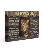 MOM TO SON GIFT- PANTHER STEP OUT THE SHADOWS 14x11 Gallery Wrapped Canvas Prints front