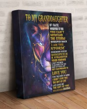 GRANDMA TO GRANDDAUGHTER GIFT LION BRAVER LOVED 11x14 Gallery Wrapped Canvas Prints aos-canvas-pgw-11x14-lifestyle-front-07