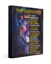 GRANDMA TO GRANDDAUGHTER GIFT LION BRAVER LOVED 11x14 Gallery Wrapped Canvas Prints front