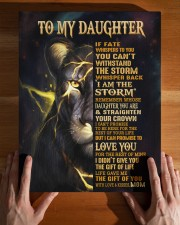 MOM TO DAUGHTER GIFT- STORM STRAIGHTEN CROWN LION 11x14 Gallery Wrapped Canvas Prints aos-canvas-pgw-11x14-lifestyle-front-32