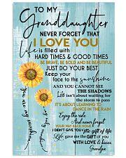 GRANDPA TO GRANDDAUGHTER GIFT - SUNSHINE SUNFLOWER 11x17 Poster front