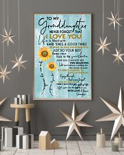 GRANDPA TO GRANDDAUGHTER GIFT - SUNSHINE SUNFLOWER 11x17 Poster lifestyle-holiday-poster-1