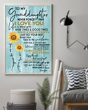 GRANDPA TO GRANDDAUGHTER GIFT - SUNSHINE SUNFLOWER 11x17 Poster lifestyle-poster-1