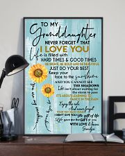 GRANDPA TO GRANDDAUGHTER GIFT - SUNSHINE SUNFLOWER 11x17 Poster lifestyle-poster-2