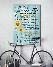 GRANDPA TO GRANDDAUGHTER GIFT - SUNSHINE SUNFLOWER 11x17 Poster lifestyle-poster-7