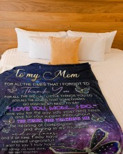 """DAUGHTER TO MOM GIFT DAY BY DAY YOU MEAN MORE Large Fleece Blanket - 60"""" x 80"""" aos-coral-fleece-blanket-60x80-lifestyle-front-02a"""