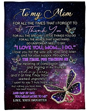 """DAUGHTER TO MOM GIFT DAY BY DAY YOU MEAN MORE Large Fleece Blanket - 60"""" x 80"""" front"""