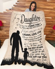 """DAD TO DAUGHTER GIFT LOVE YOU FOR THE REST OF MINE Large Fleece Blanket - 60"""" x 80"""" aos-coral-fleece-blanket-60x80-lifestyle-front-04a"""