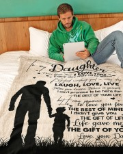 """DAD TO DAUGHTER GIFT LOVE YOU FOR THE REST OF MINE Large Fleece Blanket - 60"""" x 80"""" aos-coral-fleece-blanket-60x80-lifestyle-front-06a"""