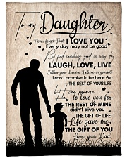 """DAD TO DAUGHTER GIFT LOVE YOU FOR THE REST OF MINE Large Fleece Blanket - 60"""" x 80"""" front"""