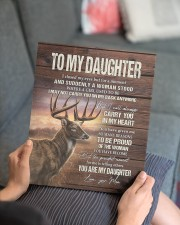 MOM TO DAUGHTER GIFT- DEER SUDDENLY A WOMAN STOOD  11x14 Gallery Wrapped Canvas Prints aos-canvas-pgw-11x14-lifestyle-front-25