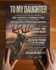 MOM TO DAUGHTER GIFT- DEER SUDDENLY A WOMAN STOOD  11x14 Gallery Wrapped Canvas Prints aos-canvas-pgw-11x14-lifestyle-front-32