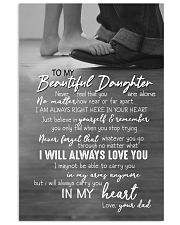 DAD TO DAUGHTER GIFT -ALWAYS CARRY YOU IN MY HEART 11x17 Poster front