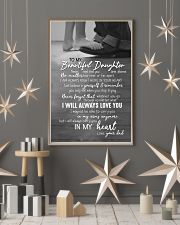 DAD TO DAUGHTER GIFT -ALWAYS CARRY YOU IN MY HEART 11x17 Poster lifestyle-holiday-poster-1