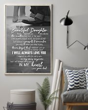 DAD TO DAUGHTER GIFT -ALWAYS CARRY YOU IN MY HEART 11x17 Poster lifestyle-poster-1