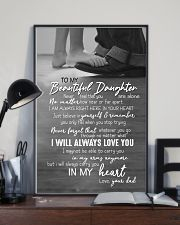 DAD TO DAUGHTER GIFT -ALWAYS CARRY YOU IN MY HEART 11x17 Poster lifestyle-poster-2