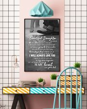 DAD TO DAUGHTER GIFT -ALWAYS CARRY YOU IN MY HEART 11x17 Poster lifestyle-poster-6