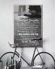 DAD TO DAUGHTER GIFT -ALWAYS CARRY YOU IN MY HEART 11x17 Poster lifestyle-poster-7