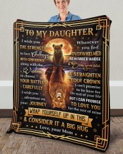 """MOM TO DAUGHTER GIFT FACE CHALLENGE ADVENTURE Fleece Blanket - 50"""" x 60"""" aos-coral-fleece-blanket-50x60-lifestyle-front-02a"""