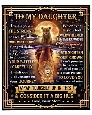 """MOM TO DAUGHTER GIFT FACE CHALLENGE ADVENTURE Fleece Blanket - 50"""" x 60"""" front"""